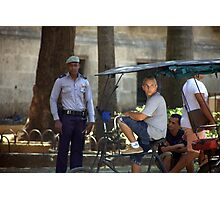 Havana policeman Photographic Print