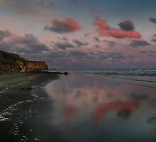 Twilight And The Cliffs Of Kai Iwi Beach by Peter Kurdulija