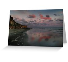 Twilight And The Cliffs Of Kai Iwi Beach Greeting Card