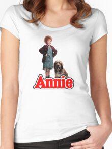 ANNIE - Annie & Sandy Women's Fitted Scoop T-Shirt