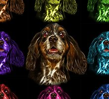 cocker spaniel dog art - 8249 by Rateitart