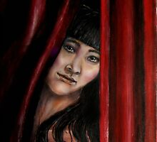 Red Curtain by MinoYasue