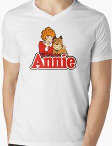 Little Orphan Annie Mens V-Neck T-Shirt