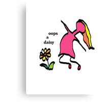 Oops a daisy Canvas Print