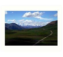 The Road to Mt Denali, AK Art Print