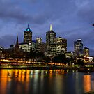 The Yarra River at dusk by Mark Williamson