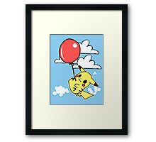 Pikachu balloon Framed Print