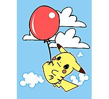 Pikachu balloon Photographic Print