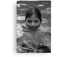 swimming in the rain Canvas Print