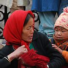 Mongolian woman and child by Mottoy