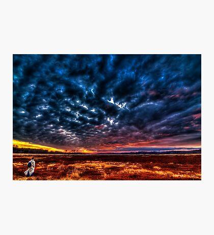 Sunset self-portrait Photographic Print
