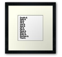The Hobbit Dwarves Framed Print