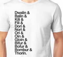 The Hobbit Dwarves Unisex T-Shirt