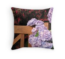 Purple Vine Throw Pillow