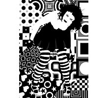 Goth woman Photographic Print