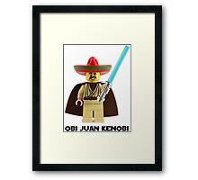 Obi Juan Kenobi Framed Print