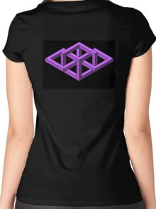Isometric Impossibilities  Women's Fitted Scoop T-Shirt