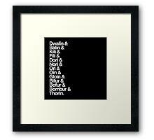 The Hobbit Dwarves Framed Print