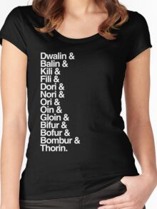 The Hobbit Dwarves Women's Fitted Scoop T-Shirt