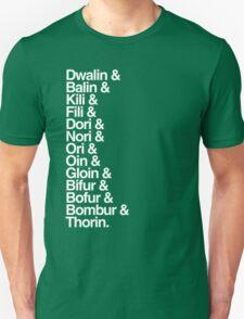 The Hobbit Dwarves Unisex T-Shirt