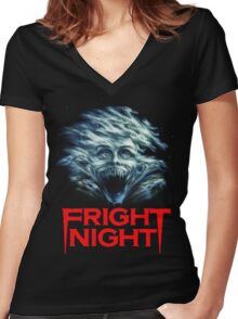 Fright Night Women's Fitted V-Neck T-Shirt
