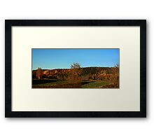 0541 - HDR Panorama - Autumn Hills Framed Print