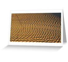 Stripes reflected onto sand to create patterns Greeting Card