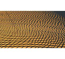 Stripes reflected onto sand to create patterns Photographic Print