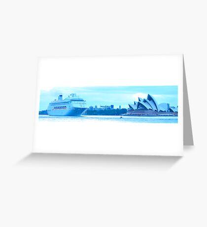 Morning Greeting - Sydney Harbour, Sydney Australia Greeting Card