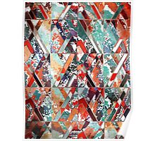 Textured Structural Abstract Poster