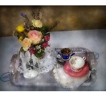 My Grandmothers Tea Set Photographic Print