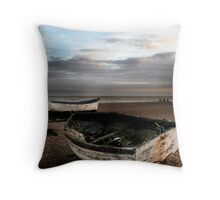 Aldburgh boats Throw Pillow