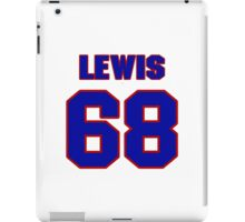 National football player Butch Lewis jersey 68 iPad Case/Skin