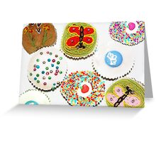 cup cakes 4 tea Greeting Card