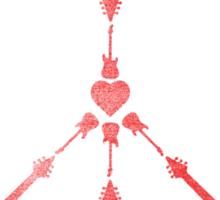 peace love rock'n'roll Sticker