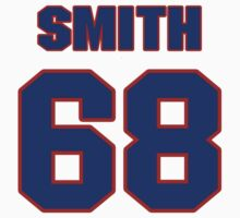 National football player Omar Smith jersey 68 by imsport