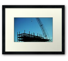 0594 - HDR Panorama - Steel Work Framed Print