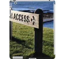 Beach Access iPad Case/Skin