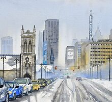 Winter on Woodward Avenue by Jamie Alexander
