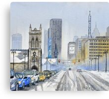 Winter on Woodward Avenue Canvas Print
