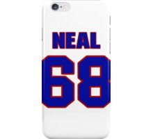 National football player Richard Neal jersey 68 iPhone Case/Skin
