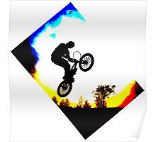 BMX Silhouette Poster