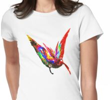 Fractal - Floating Butterfly Womens Fitted T-Shirt
