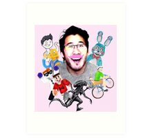 Markiplier 2014 Highlights Art Print