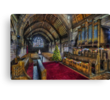 Christmas Church Service Canvas Print