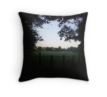 Scottish countryside Throw Pillow