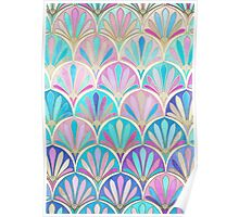 Glamorous Twenties Art Deco Pastel Pattern Poster