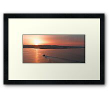 Tunisian Sunset Framed Print