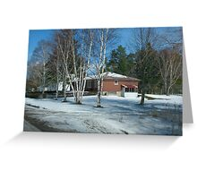 A Winter Drive By Greeting Card