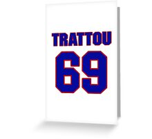 National football player Justin Trattou jersey 69 Greeting Card